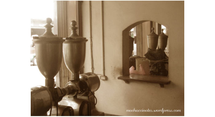 peralatan yang ada di dalam pabrik kopi aroma