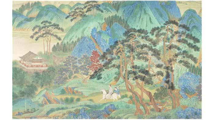 salah satu lukisan tertua di Cina