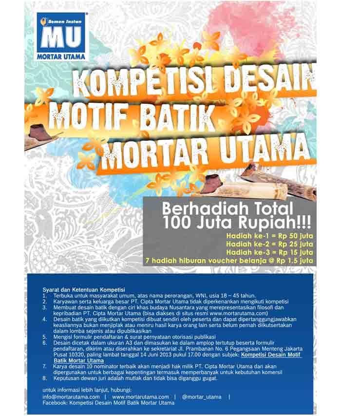 kompetisi desain motif batik mortar utama