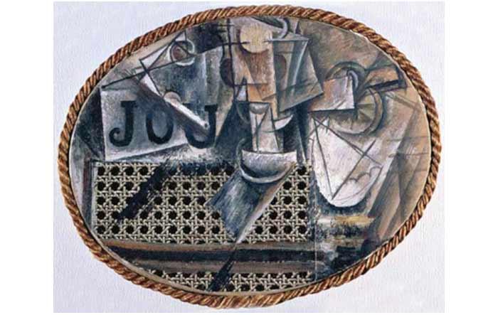 Mengumpulkan kenangan dengan kolase kopi keliling - Picasso nature morte a la chaise cannee ...
