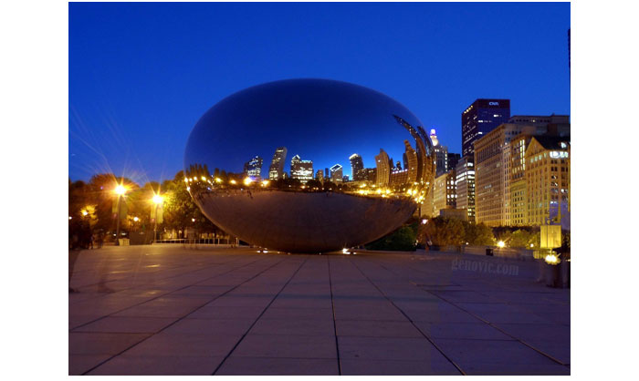 Chicago-Bean-Cloud-Gate-Night-Skyline-HD-Wallpapers