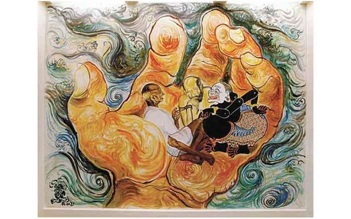 Affandi_'Wisdom_of_the_East',_fresco_mural