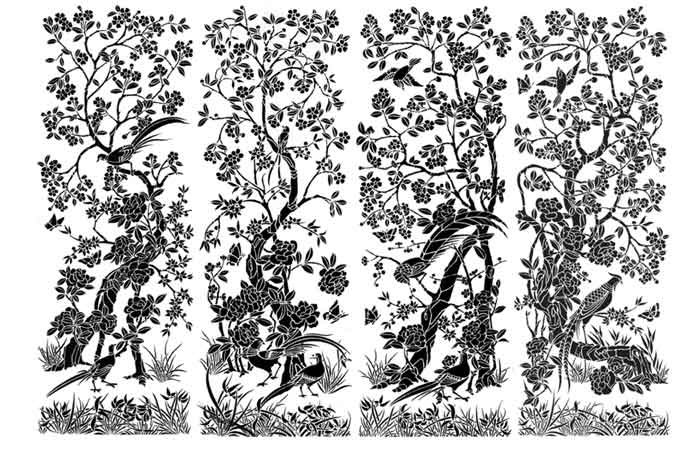 chinoiserie-hand-painted-wallpaper-stancils-foliage-birds