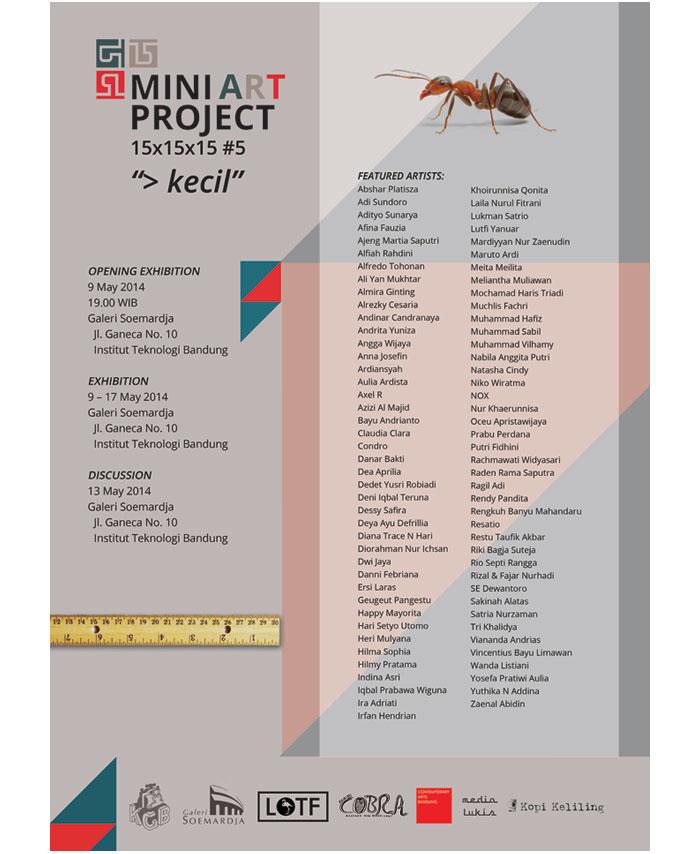 15x15x15 mini art project Bandung
