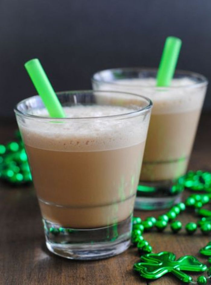 Minty and Boozy St. Patrick's Day Iced Coffee