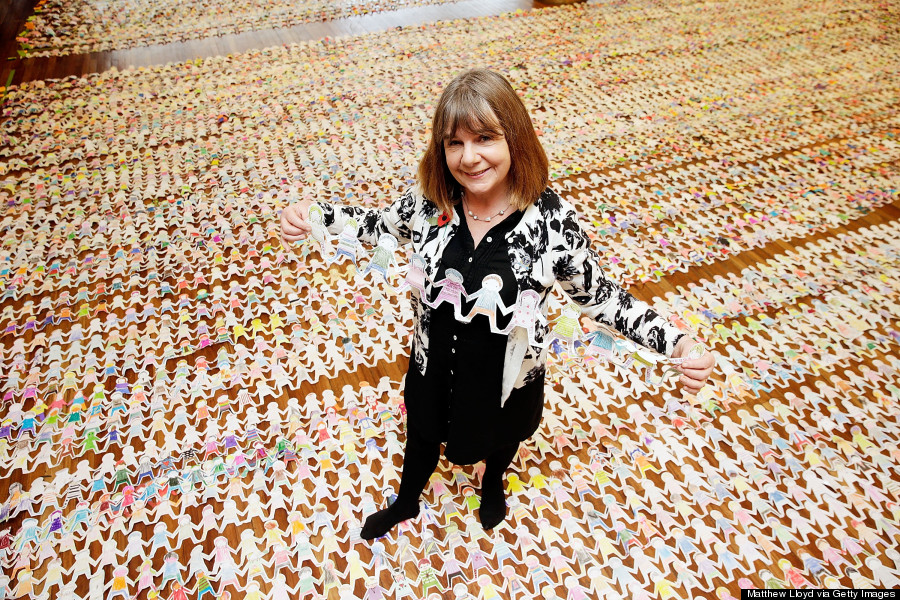 Guinness World Record Attempt For Longest Chain Of Paper Dolls