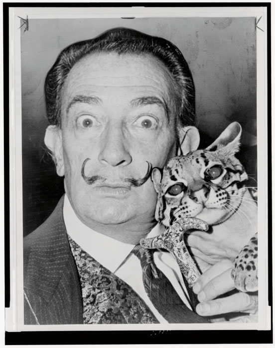 Salvador Dali. World Telegram & Sun photo by Roger Higgins; image courtesy of the Library of Congress.