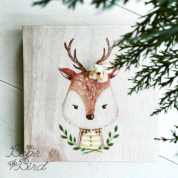 Friendly creatures collectible art woodpanel, salah satu produk yang akan dibawa untuk Catalyst Art Market