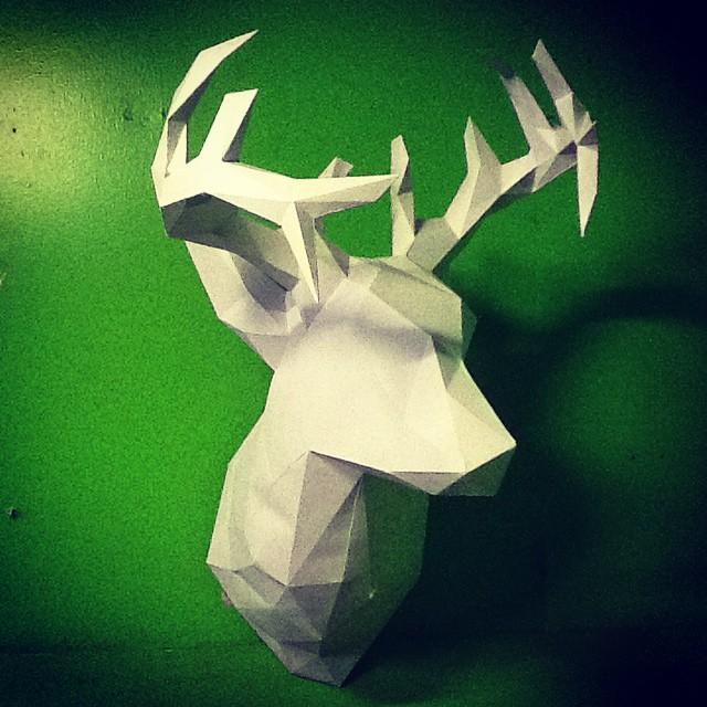 Paper Taxidermy White Deer, salah satu karya yang akan dibawa untuk Catalyst Art Market