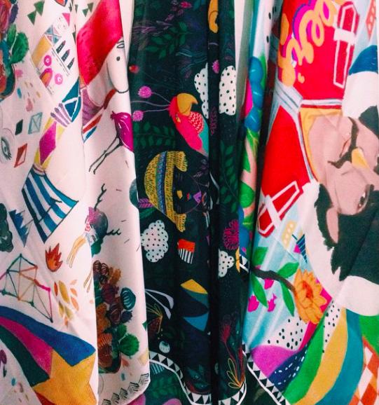 scarf, salah satu produk yang akan dibawa untuk Catalyst Art Market