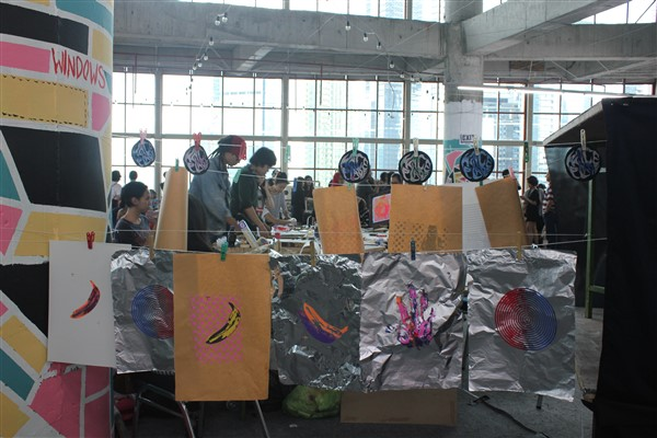 Workshop sablon di Catalyst Art Market (foto: Rivanlee)