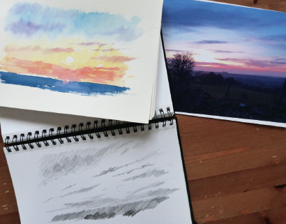 how_to_paint_a_sunrise_and_sunset_1