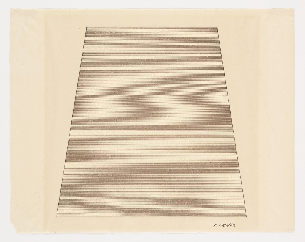 mountain salah satu karya agnes martin source: gwarlingo.com