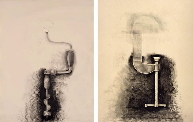 Jim Dine is an outstanding artist to use with middle and high school Art students
