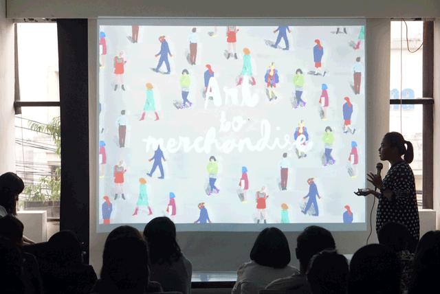 Slide-Membuat-karya-menjadi-brand-merchandise-Diela-Maharanie-di-acara-NgabubuART-Catalyst-Arts-Kopi-Keliling